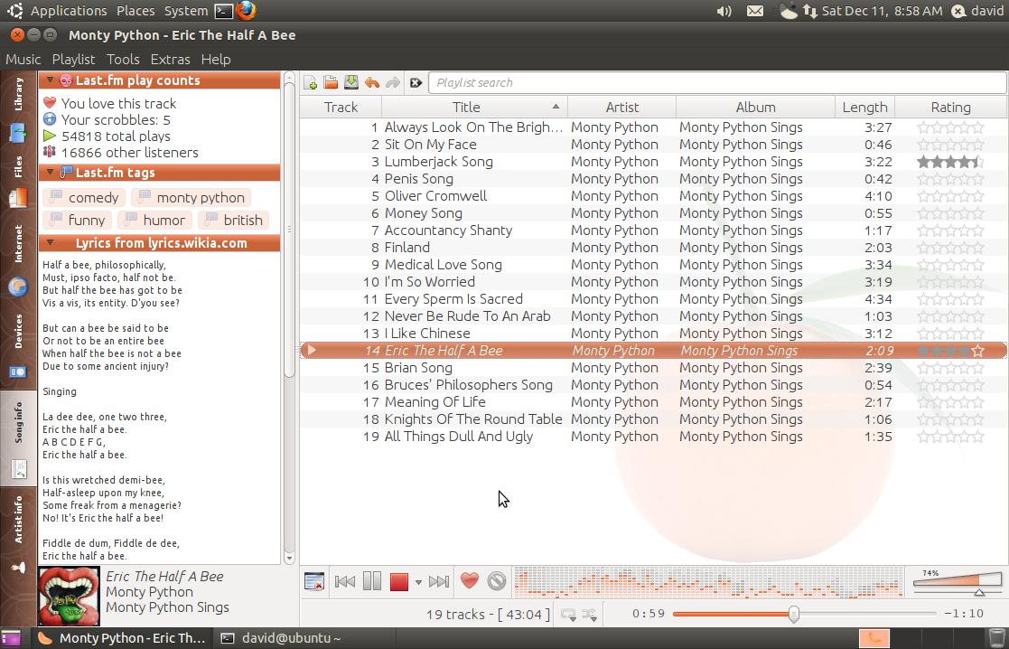 Screenshots   Clementine Music Player