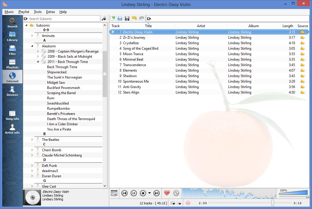 Screenshots | Clementine Music Player
